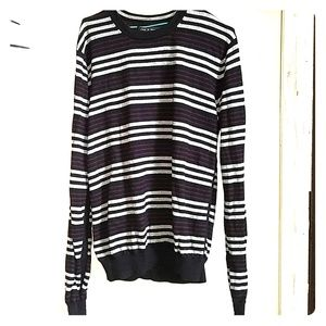 Striped sz L Rag & Bone stockinette merino sweater